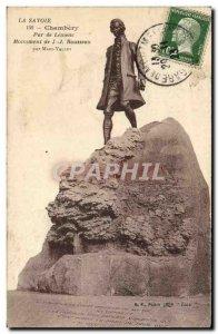 Old Postcard Chambery Park Lemenc Monument Rousseau