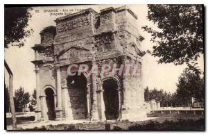 Postcard Old Orange Triumphal Arch Facade south