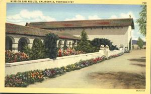 Mission San Miguel CA, California - Founded 1797 - Linen