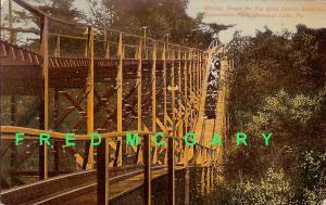 1910 Conneaut Lake PA PC: Big Chute Scenic Rwy., Expo Park - Rare!