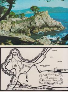 Rancho Canada Golf Club Horizon Inn Map Folding Flyer Postcard