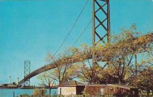 Michigan Detroit Ambassador Bridge Connecting
