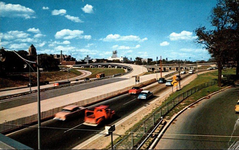 Michigan Detroit Junction Of Edsel Ford Expressway and John Lodge Expressway ...