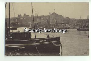 tp9589 - Kent - Swift a Coaster moored in the Harbour, at Folkestone- postcard