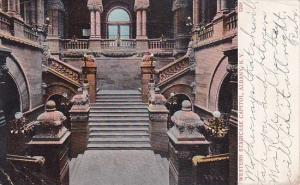 New York Albany Western Staircase Capitol 1910
