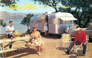 Silver Streak Travel Trailer 1950s Advertising Repro Postcard