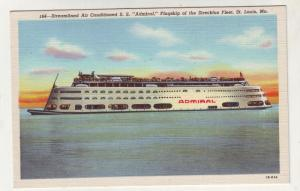 P208 JL old postcard ship streamliner ss admiral st louis mo