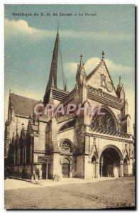 Old Postcard Basilica of N D Liesse Portal