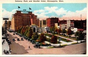 Minnesota Minneapolis Gateway Park and Nicollet Hotel