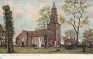 Virginia Williamsburg Bruton Parish Church Tucks