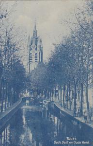 DELFT , Netherlands , 00-10s : Oude Delft en Oude Kerk