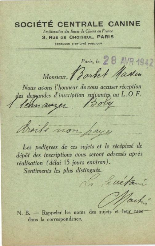 CPA Paris 6e (Dep.75) Société Centrale Canine (52737)