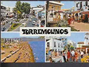 Multi View Torremolinos Spain Postcard BIN