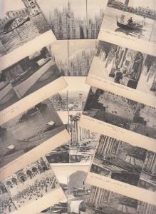 Bulk lot 17 early stereo postcards all ITALY Rome Venice Milano Feltre