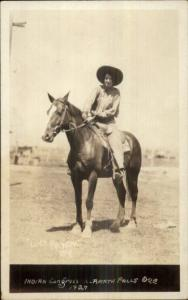 Cowgirl Lucy Paxton Indian Congress Klamath Falls OR 1929 Real Photo Postcard