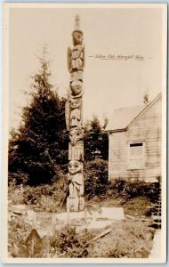 Wrangell, Alaska RPPC Real Photo Postcard Totem Pole Scenic Photo Pub. C1910s