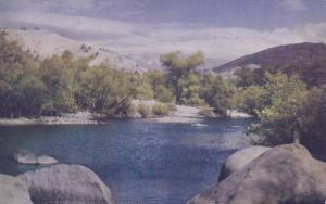 Kaweah River Scene at Stivers Guest Ranch, Three Rivers, California,1940-1960s