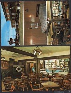 (2) Quebec Hotel-Motel du Capitaine Interior CTE' MONTMORENCY Chrome 1950s-1970s