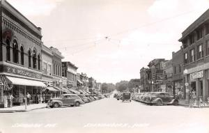 Shenandoah Iowa~Sheridan Avenue~Woolworth's~Spurgeon's Clearance~1940s Cars~RPPC