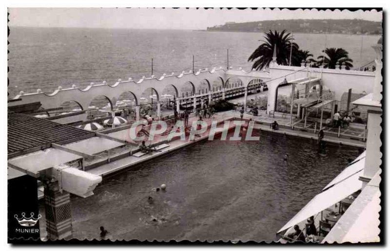 Postcard Moderne Menton The Municipal Casino beach