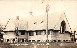F21/ Houlton Maine RPPC Postcard c1950s Unitarian Church Building