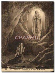 Old Postcard Lourdes Apparition of the Virgin to Bernadette