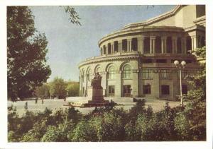 armenia, YEREVAN EREVAN, Spendiarian Academic State Theatre (1960) Postcard