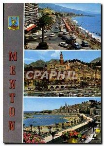Modern Postcard The azure Riviera Menton Pearl of France Boulevard General Le...