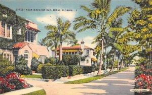 Street Near Biscayne Bay Miami, Florida