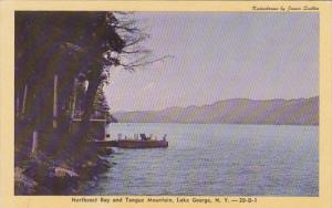 New York Lake George Northeast Bay and Tongue Mountain 1947 Dexter Press