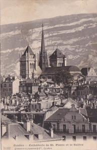 Switzerland Geneve Cathedrale de St Pierre et le Saleve 1911