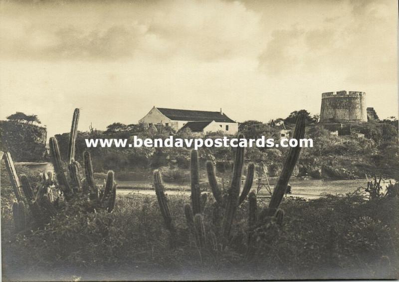 curacao, N.W.I., WILLEMSTAD, Fort Bekenburg, Caracasbaai (1940s) Tijssen RPPC