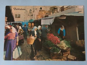Vintage Jerusalem –view of the marketplace