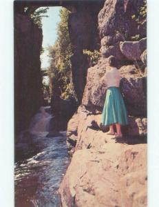 Pre-1980 WATERFALL Pokiok Falls - Near Nackawic & Southampton NB E4231