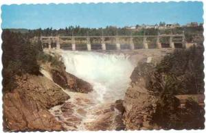 Power Dam and Falls, Grand Falls, New Brunswick, Canada, Chrome