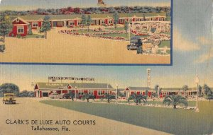 Tallahassee Florida multi-views Clark's De Luxe Auto Courts antique pc BB2648