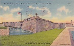 Florida Saint Augustine The Castle San Marcos National Monument 1941