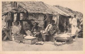 Italian Somalia ethnic types Mogadishu native street sellers commerce postcard