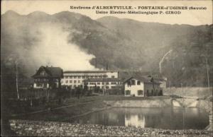 Albertville France Fontaine d'Ugines Savoie c1915 Postcard #2