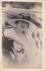 N Fernandez Wearing Large Hat Real Photo