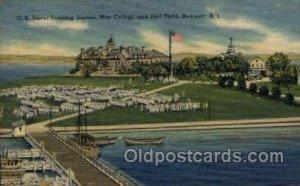 War College and Drill Field, Newport, Rhode Island, USA Military Unused