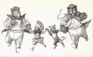 ROOSEVELT BEARS SEE THE WAX MUSEE: BUSTER BROWN & TIGE  POSTCARD