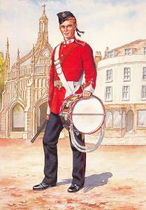 Military Art Postcard Drummer The 107th Bengal Infantry Regiment 1879 #33-2