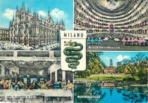 Postcard Italy Saluti da milano multi views