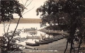 D88/ Big Stone Lake Minnesota Mn Real Photo RPPC Postcard c1910 Boat Foster Bay