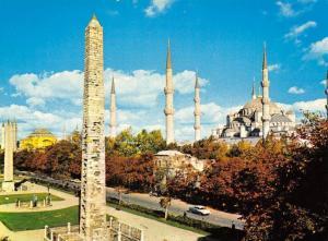 Turkey The Obelisks of the Hippodrome and Saltanahmet Vintage Car