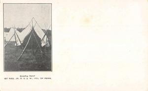 Guard Tent Jr OUAM Of Pennsylvania Private Mail Antique Postcard K97160