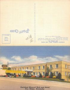 C43/ Dry Ridge Kentucky Ky Postcard Linen 2-Panel Carlsbad Mineral Well Hotel