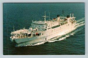 USNS Zeus T-ARC 7, Cable Ship Chrome Postcard