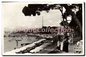 Old Postcard Juan Les Pins Pinede And The Beach